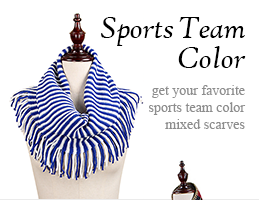 Sports team color scarves